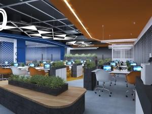 Mẫu nội thất Coworking Space khu 1 GNG Media