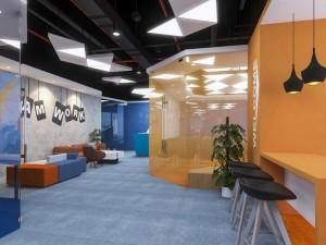 Mẫu nội thất văn phòng khu 2 GNG Media