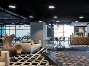 Mẫu nội thất văn phòng làm việc chung số 1 Lương Yên