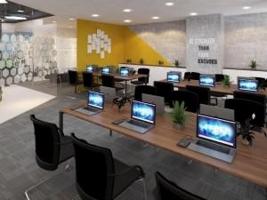 Mẫu nội thất văn phòng 180m2 GOLDEN NET dự án 2
