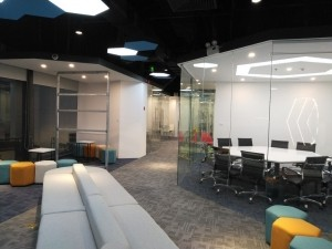 Thiết kế nội thất Coworking Space Goldent Net
