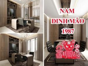 Thiết kế thi công phòng làm việc chủ tịch giám đốc Nam sinh năm 1987