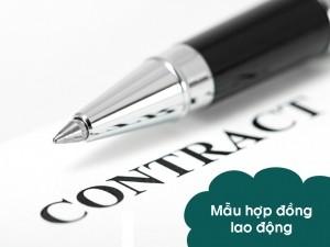 Mẫu hợp đồng lao động mới nhất