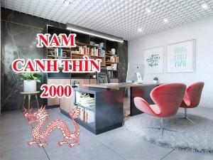 Thiết kế thi công phòng làm việc chủ tịch giám đốc Nam sinh năm 2000