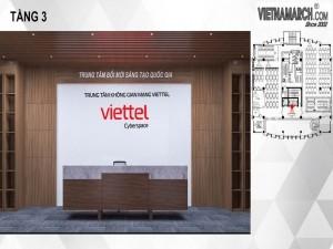 Dự án thiết kế văn phòng 1350m2 cho Viettel Cầu Giấy