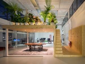 Thi công nội thất văn phòng 120 chỗ The Golden Palm