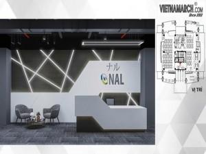 Dự án thiết kế văn phòng 800m2 Công ty NAL Việt Nam