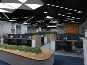 Thi công nội thất Coworking Space khu 1 GNG Media