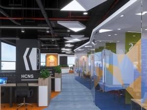 Thi công nội thất văn phòng 380m2 khu 2 GNG Media