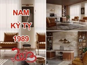Thiết kế thi công phòng làm việc chủ tịch giám đốc Nam sinh năm 1989
