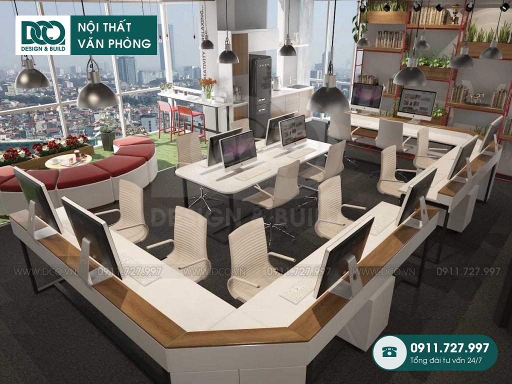 Thi công nội thất văn phòng 140m2 EGM Media