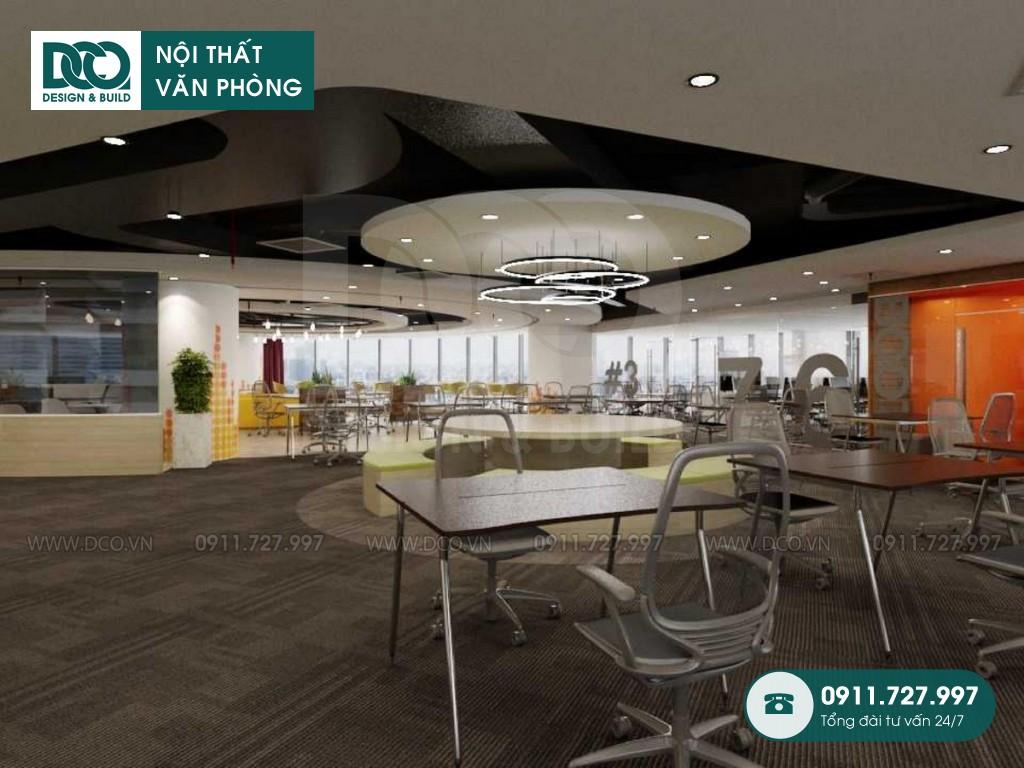 Thi công nội thất văn phòng 1000m2 tầng 21 VP Bank