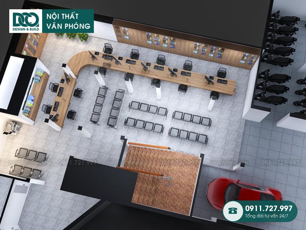 Mẫu nội thất văn phòng công ty Đăng Ký Đất Đai Hà Nội