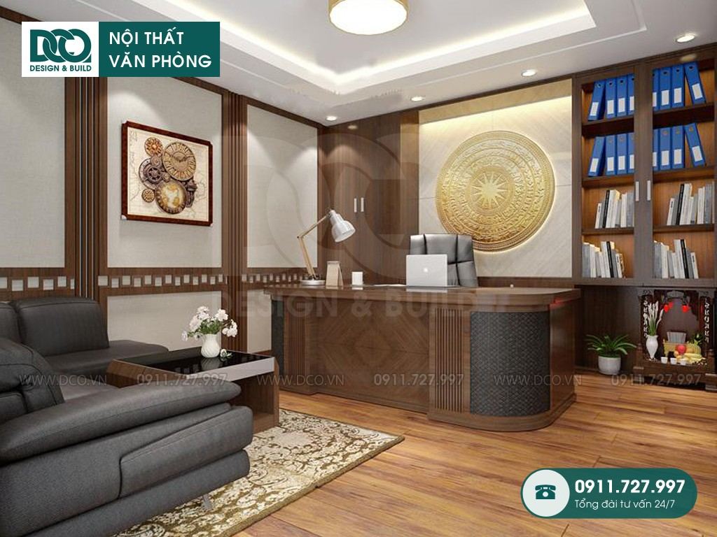 Dự toán thiết kế nội thất phòng phó chủ tịch