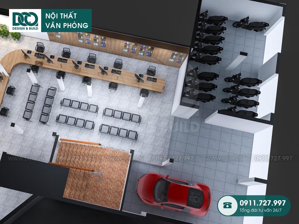Thi công nội thất văn phòng 250m2 số 10 Đặng Dung