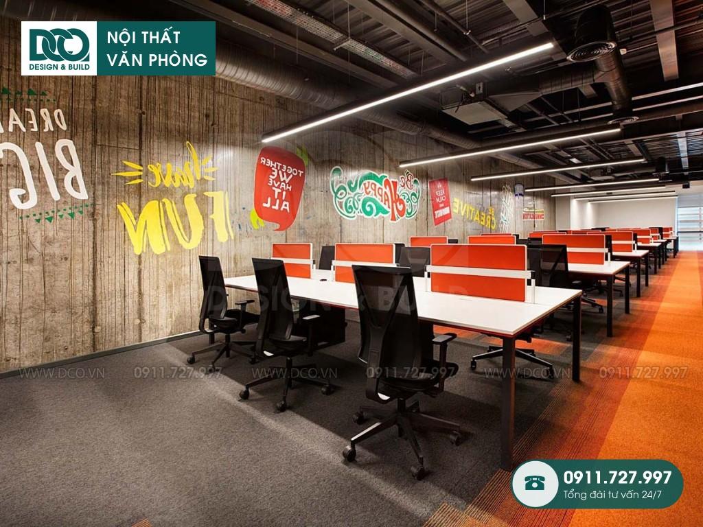 Giá thành thi công nội thất không gian làm việc chung