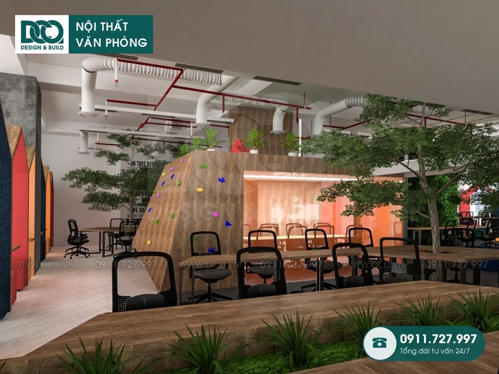 Mẫu nội thất văn phòng công ty BĐS CENLAND