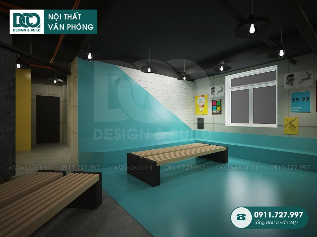 Mẫu nội thất văn phòng 100 chỗ Arena Multimedia