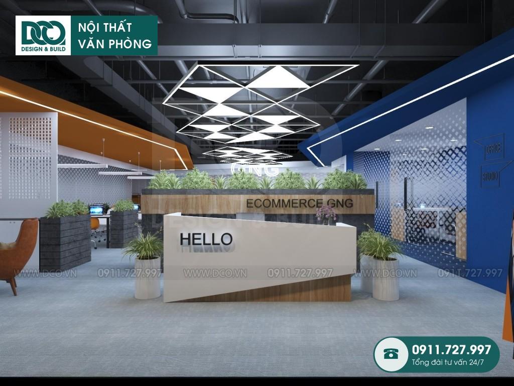 Mẫu nội thất văn phòng khu 1 GNG Media