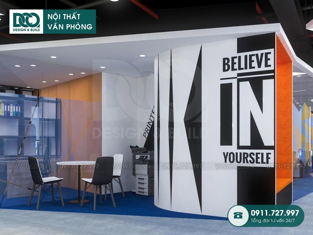 Mẫu nội thất văn phòng 380m2 khu 2 GNG Media