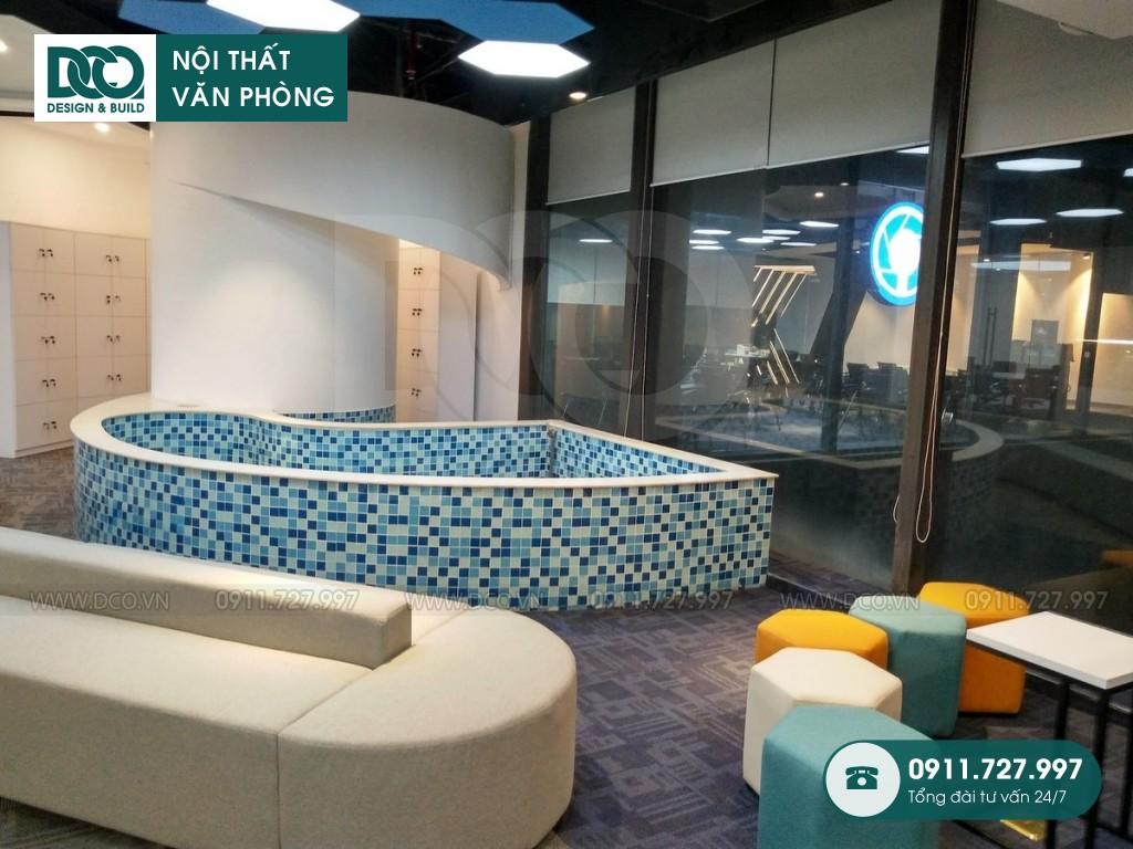 Mẫu nội thất văn phòng 150 chỗ GOLDEN NET