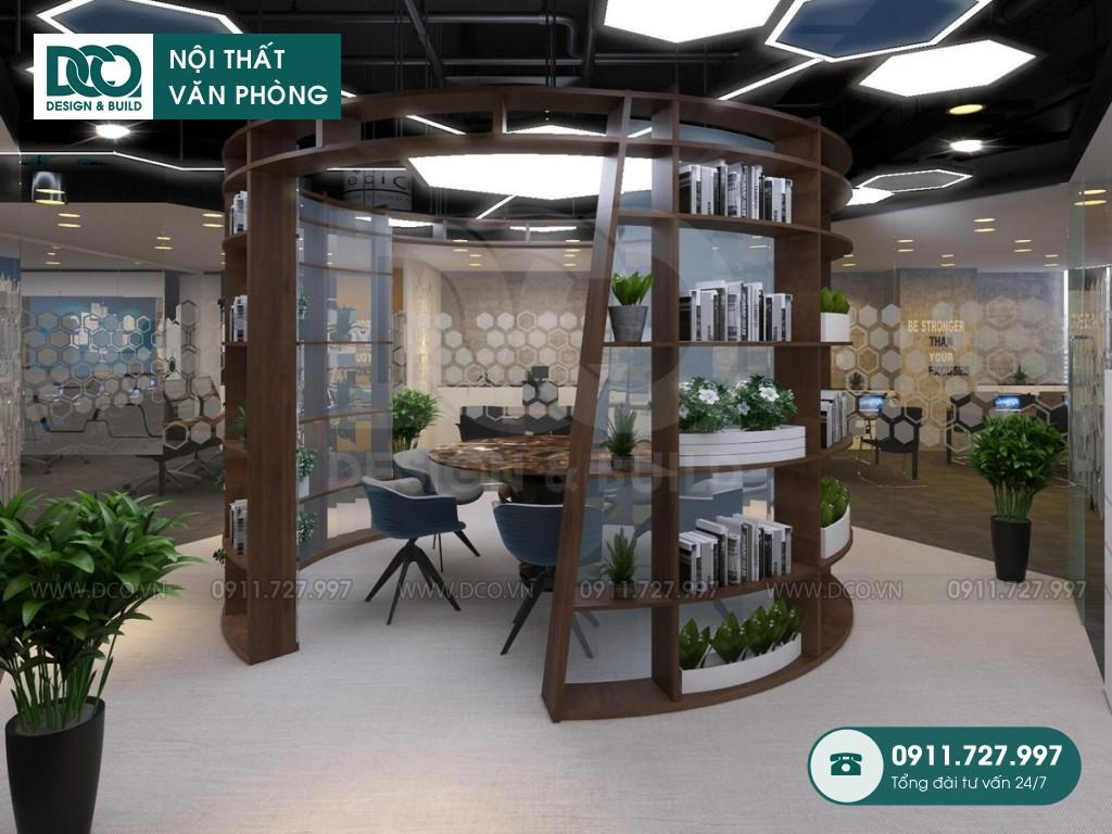 Mẫu nội thất văn phòng 48 chỗ GOLDEN NET dự án 2