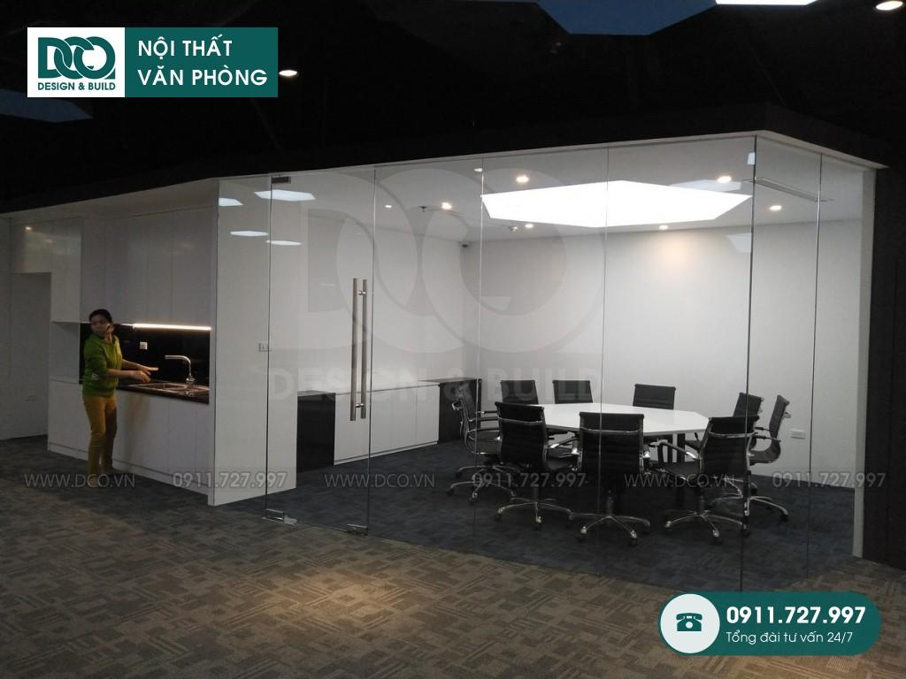 Thi công nội thất văn phòng 150 chỗ Golden Net