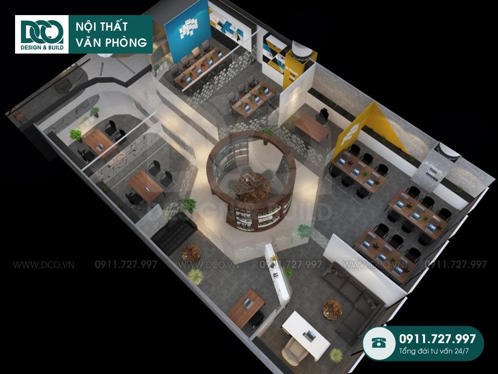 Thi công nội thất văn phòng 48 chỗ Golden Net dự án 2
