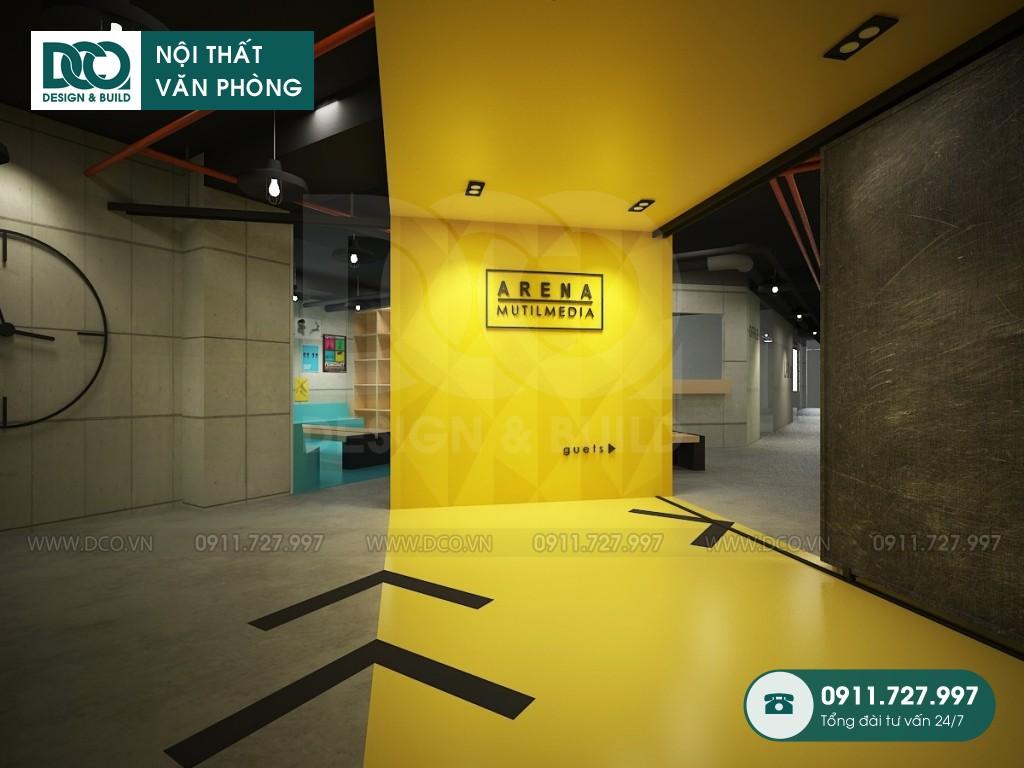 Thi công nội thất văn phòng 100 chỗ Arena Multimedia