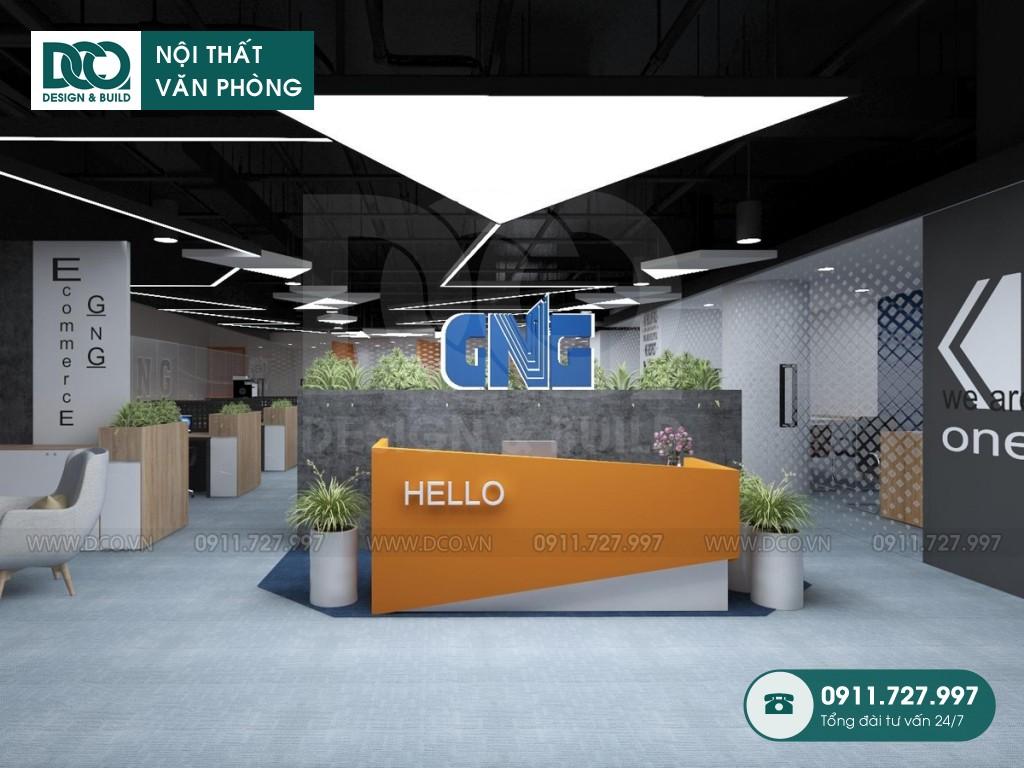 Thi công nội thất văn phòng 250m2 khu 1 GNG Media