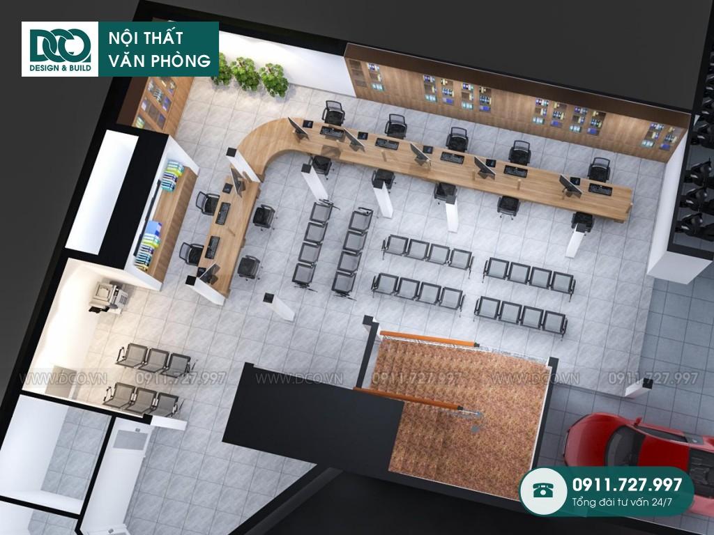 Dự án thiết kế văn phòng công ty Đăng Ký Đất Đai Hà Nội