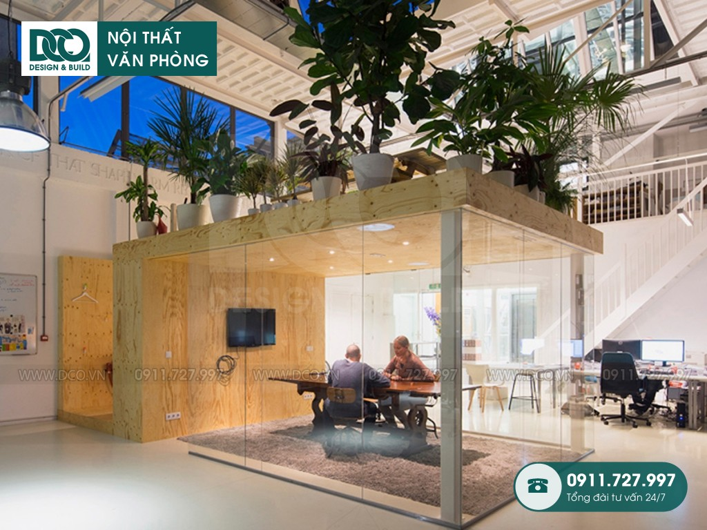 Cải tạo nội thất Coworking Space The Golden Palm